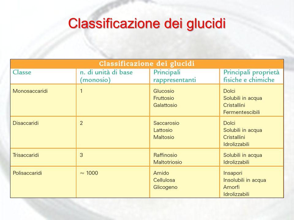 Classificazione dei glucidi