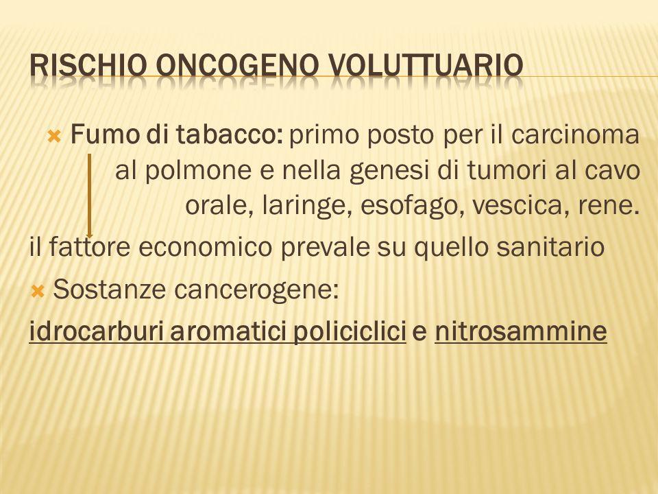 RISCHIO ONCOGENO VOLUTTUARIO