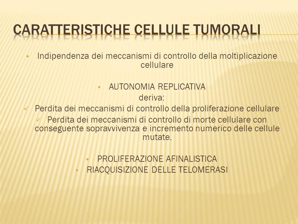 CARATTERISTICHE CELLULE TUMORALI