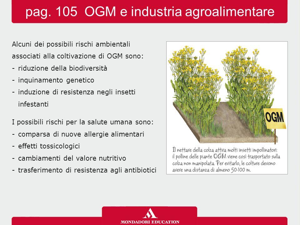 pag. 105 OGM e industria agroalimentare
