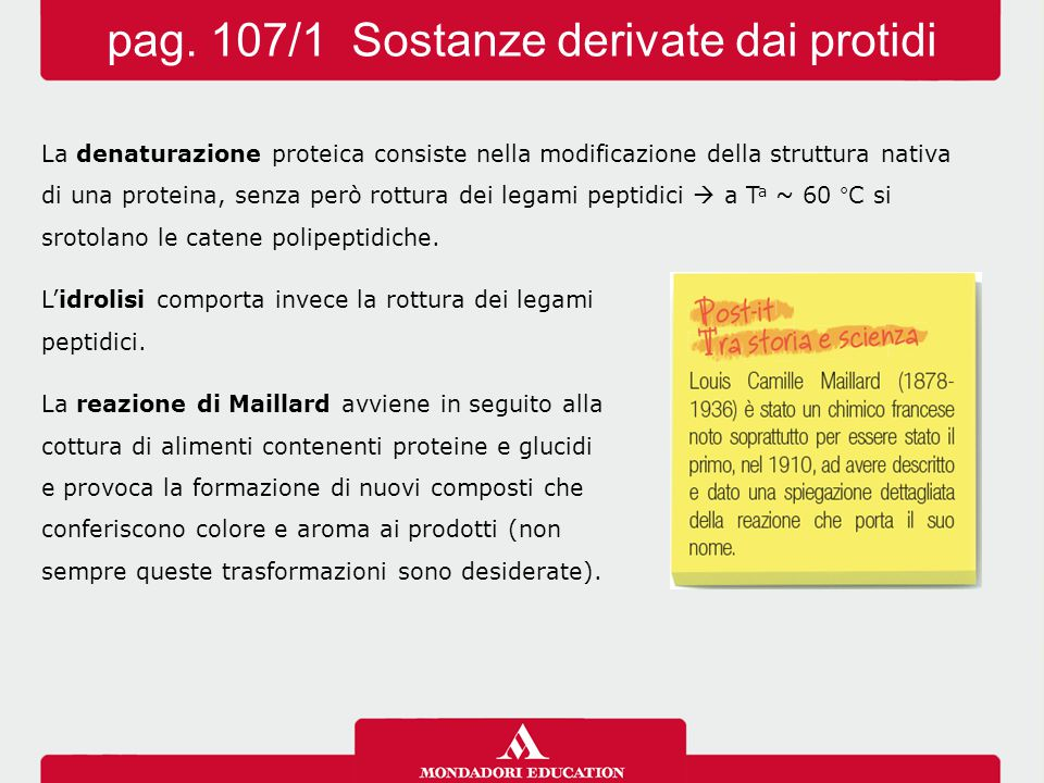 pag. 107/1 Sostanze derivate dai protidi