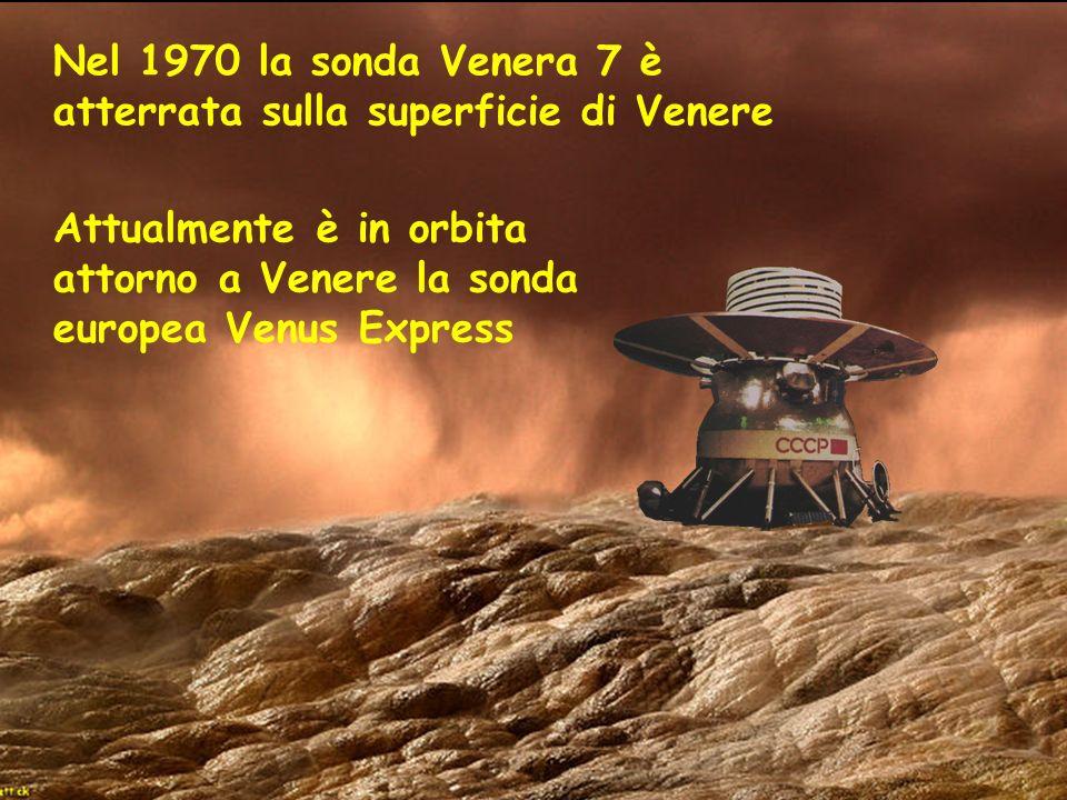 Nel 1970 la sonda Venera 7 è atterrata sulla superficie di Venere
