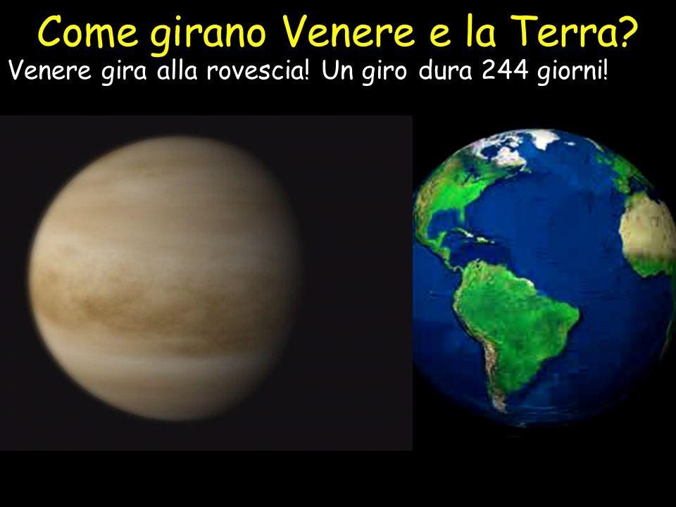 Come girano Venere e la Terra