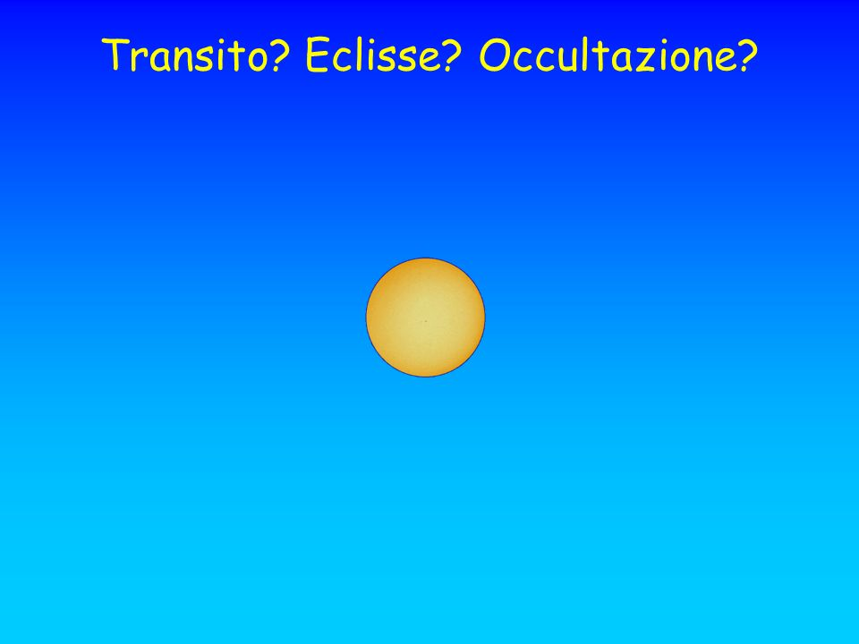 Transito Eclisse Occultazione