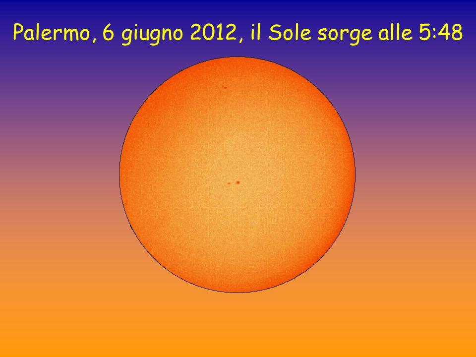 Palermo, 6 giugno 2012, il Sole sorge alle 5:48