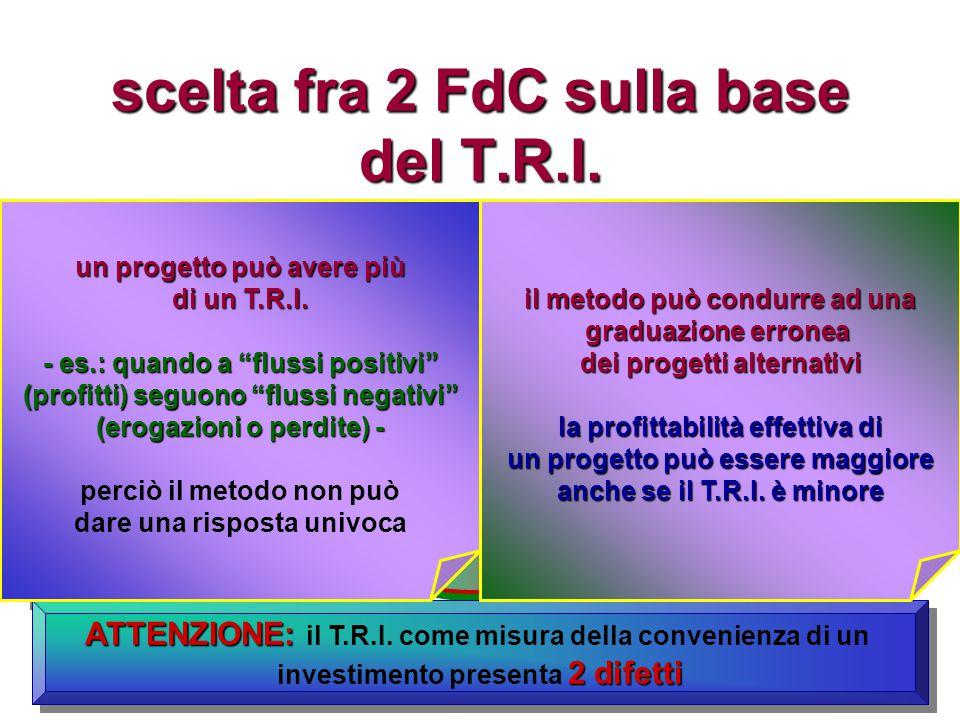 scelta fra 2 FdC sulla base del T.R.I.