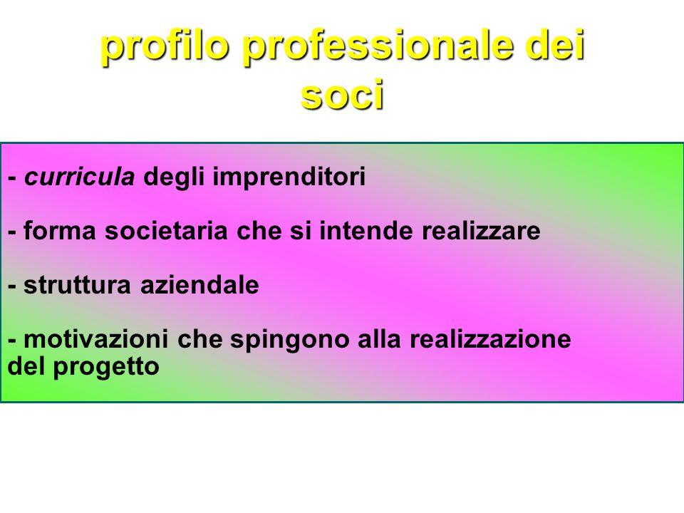 profilo professionale dei soci