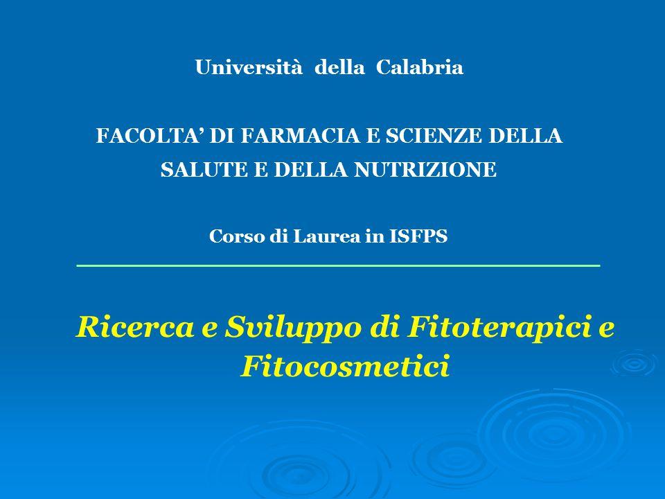 Ricerca e Sviluppo di Fitoterapici e Fitocosmetici