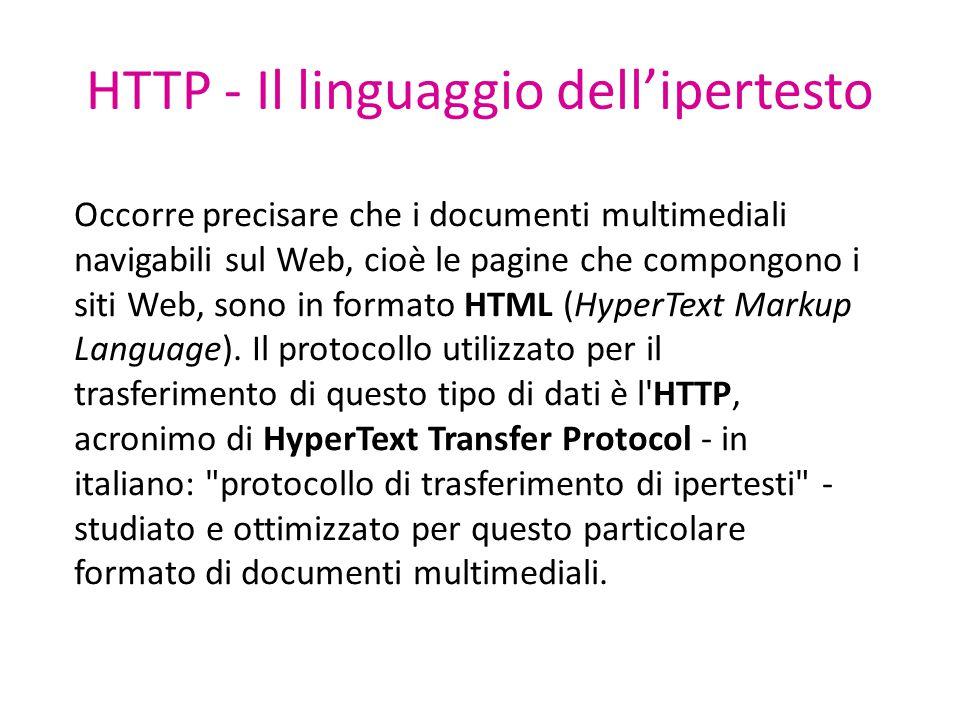 HTTP - Il linguaggio dell'ipertesto