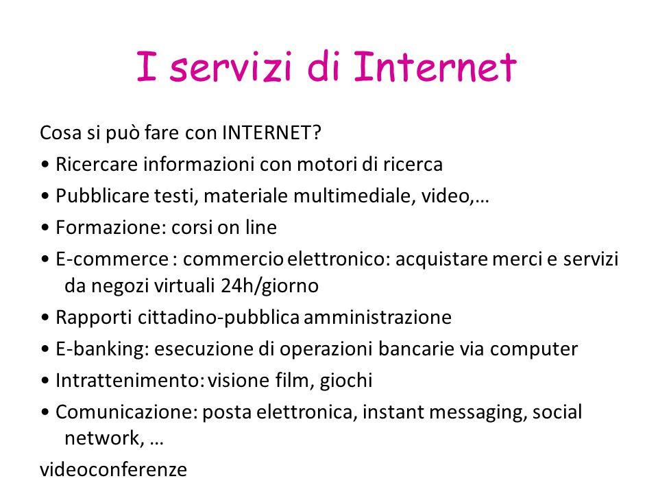 I servizi di Internet