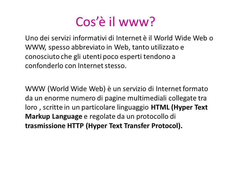 Cos'è il www