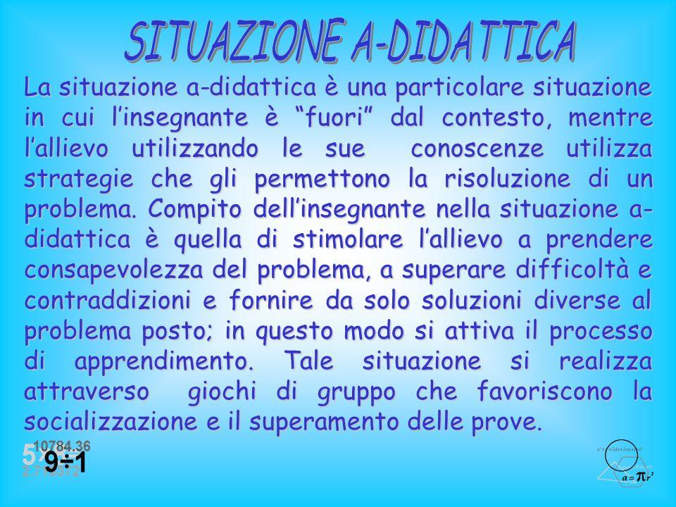 SITUAZIONE A-DIDATTICA