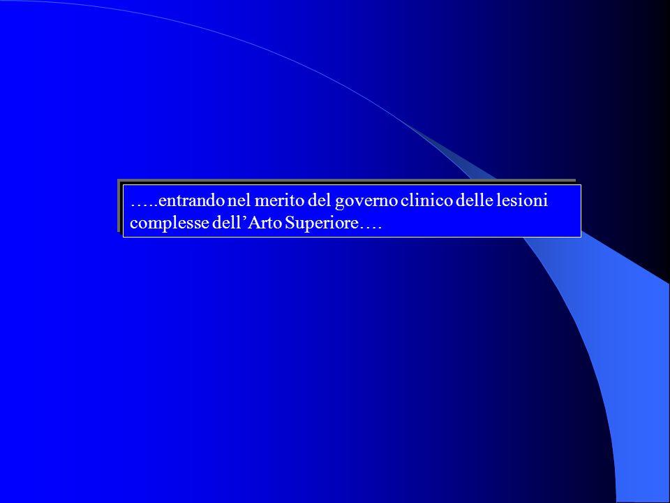 …..entrando nel merito del governo clinico delle lesioni complesse dell'Arto Superiore….