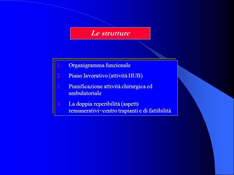 Le strutture Organigramma funzionale Piano lavorativo (attività HUB)