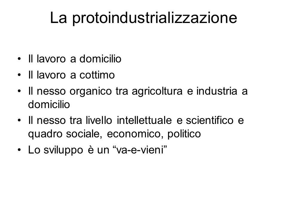 La protoindustrializzazione