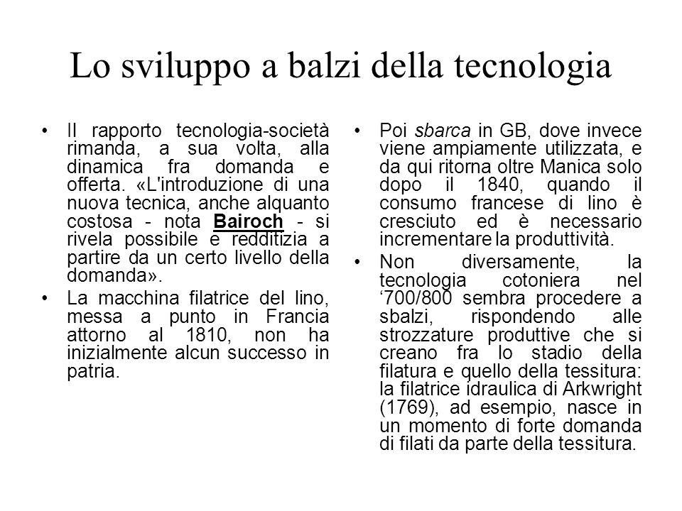 Lo sviluppo a balzi della tecnologia