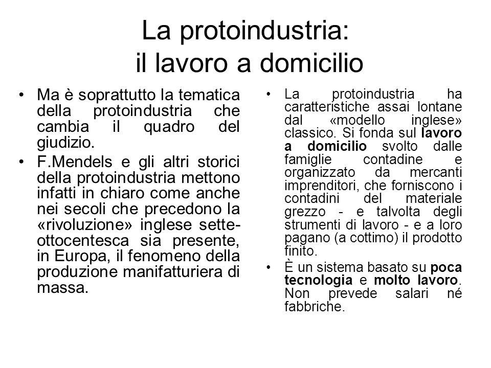 La protoindustria: il lavoro a domicilio