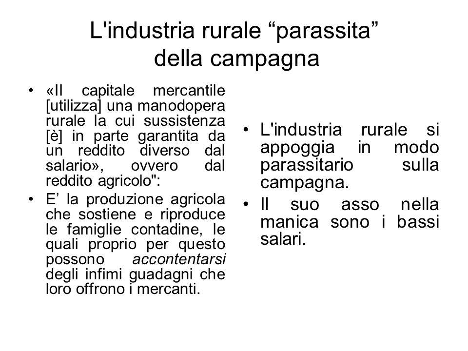 L industria rurale parassita della campagna