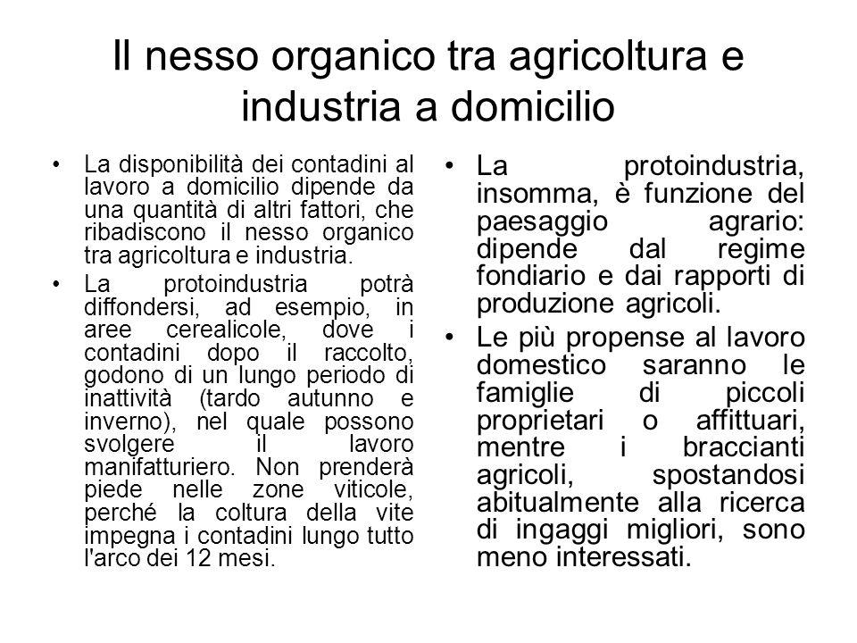 Il nesso organico tra agricoltura e industria a domicilio