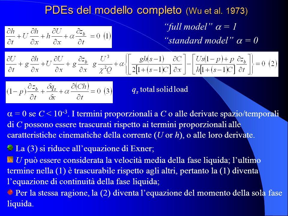 PDEs del modello completo (Wu et al. 1973)