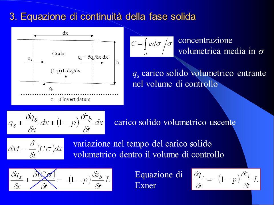 3. Equazione di continuità della fase solida