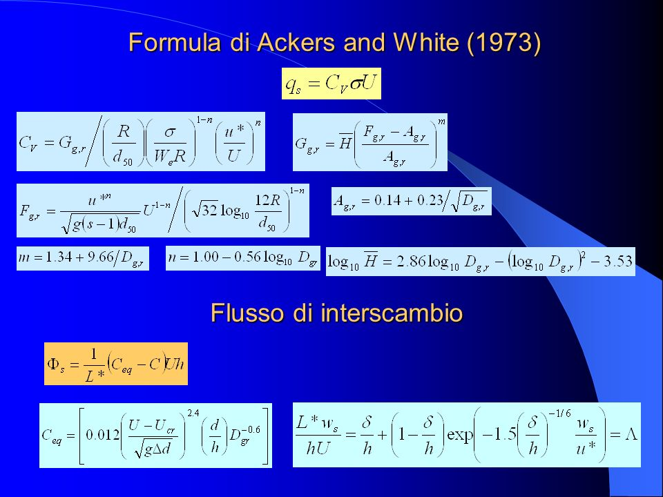 Formula di Ackers and White (1973)
