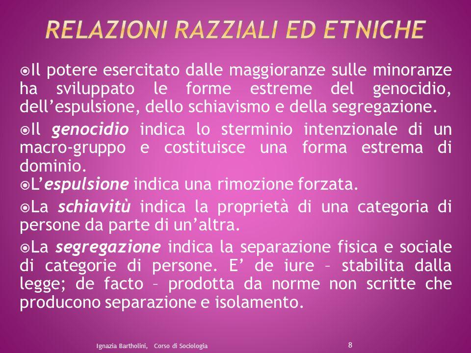 RELaZIONI RAzzIALI ED ETNICHE