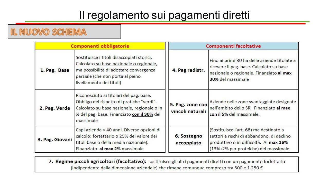 Il regolamento sui pagamenti diretti
