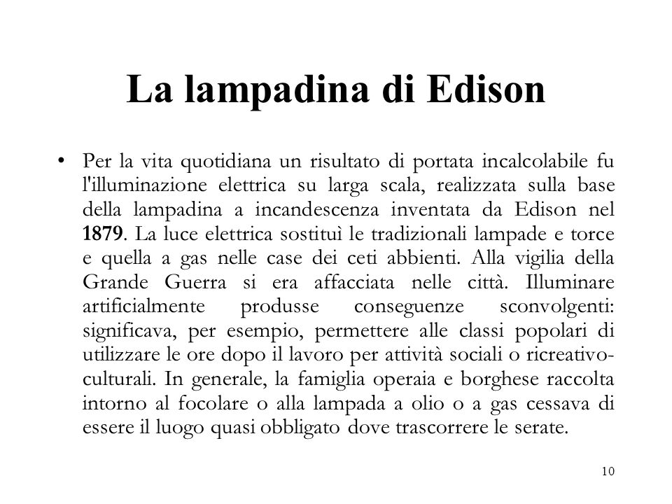 La lampadina di Edison