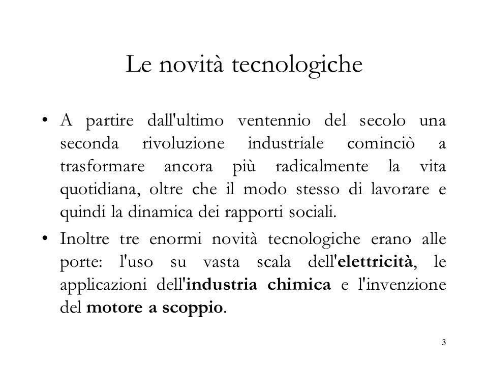 Le novità tecnologiche