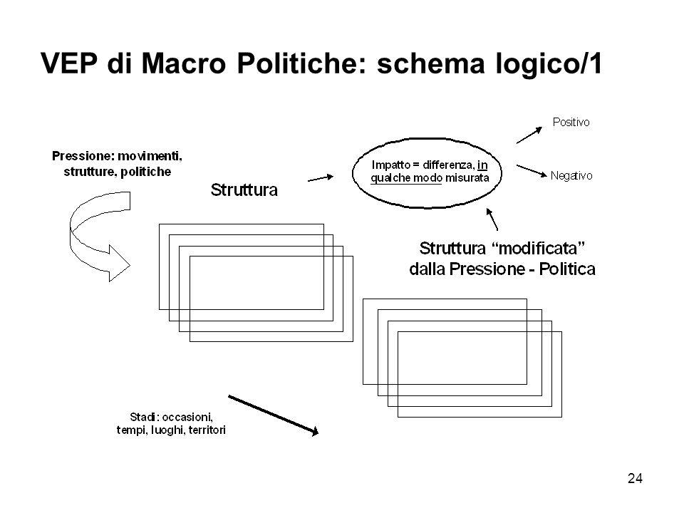 VEP di Macro Politiche: schema logico/1