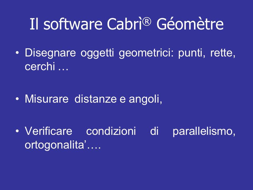 Il software Cabrì® Géomètre