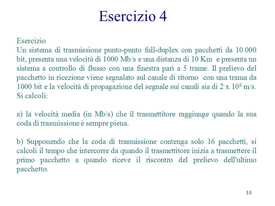 Esercizio 4 Esercizio.