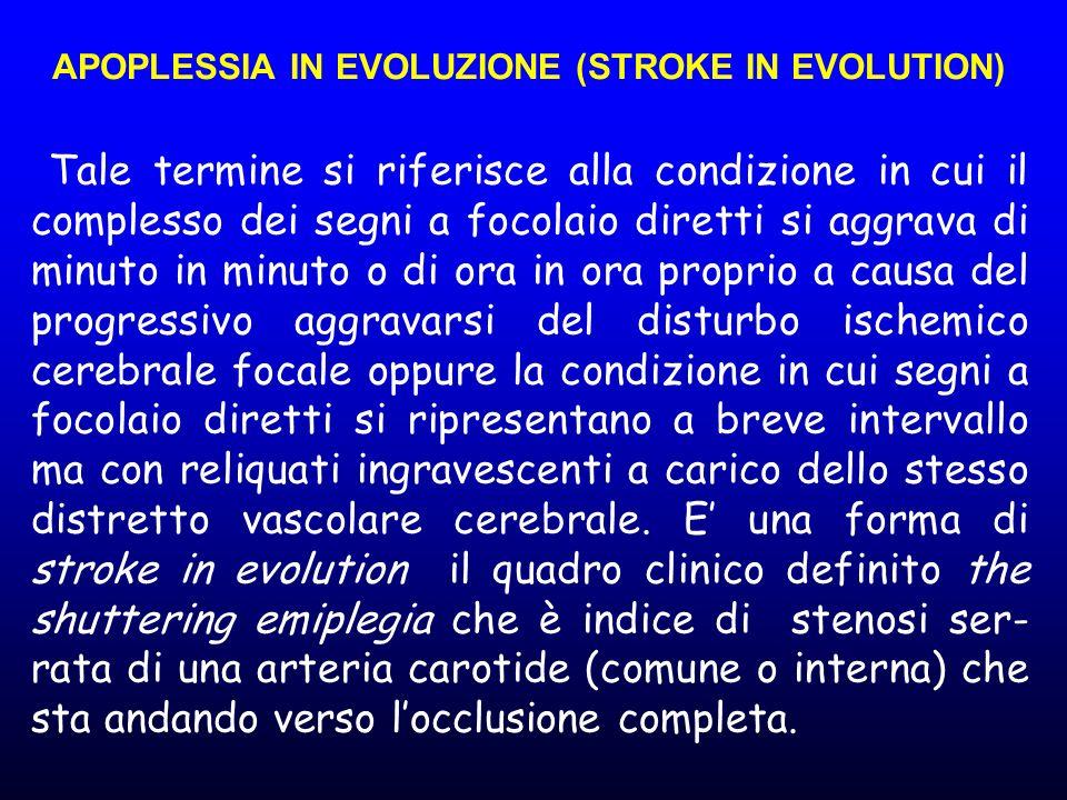 APOPLESSIA IN EVOLUZIONE (STROKE IN EVOLUTION)