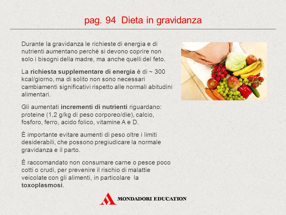 pag. 94 Dieta in gravidanza