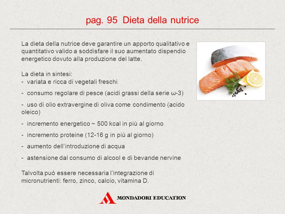 pag. 95 Dieta della nutrice