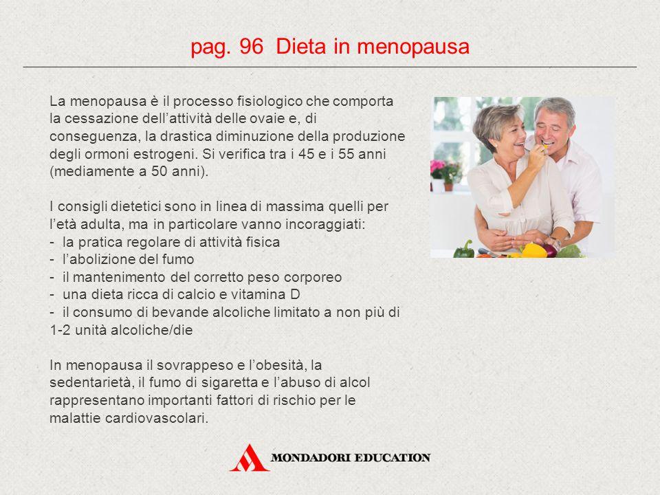 pag. 96 Dieta in menopausa
