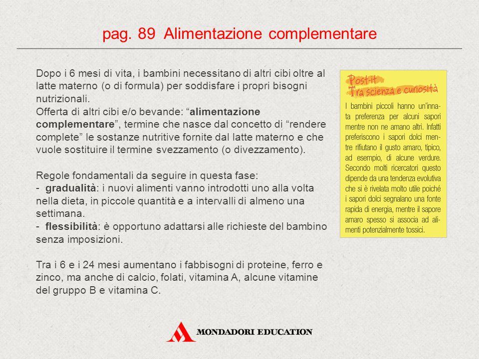 pag. 89 Alimentazione complementare
