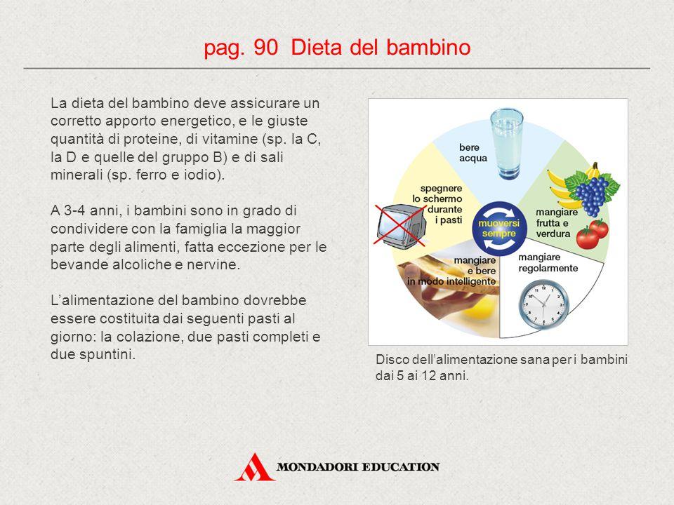pag. 90 Dieta del bambino