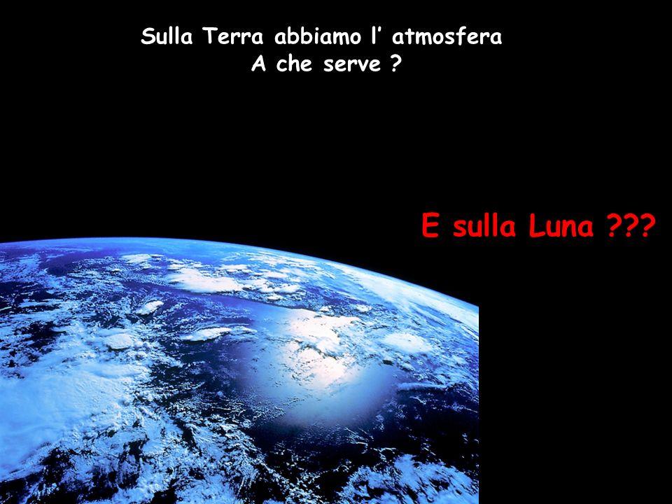 Sulla Terra abbiamo l' atmosfera