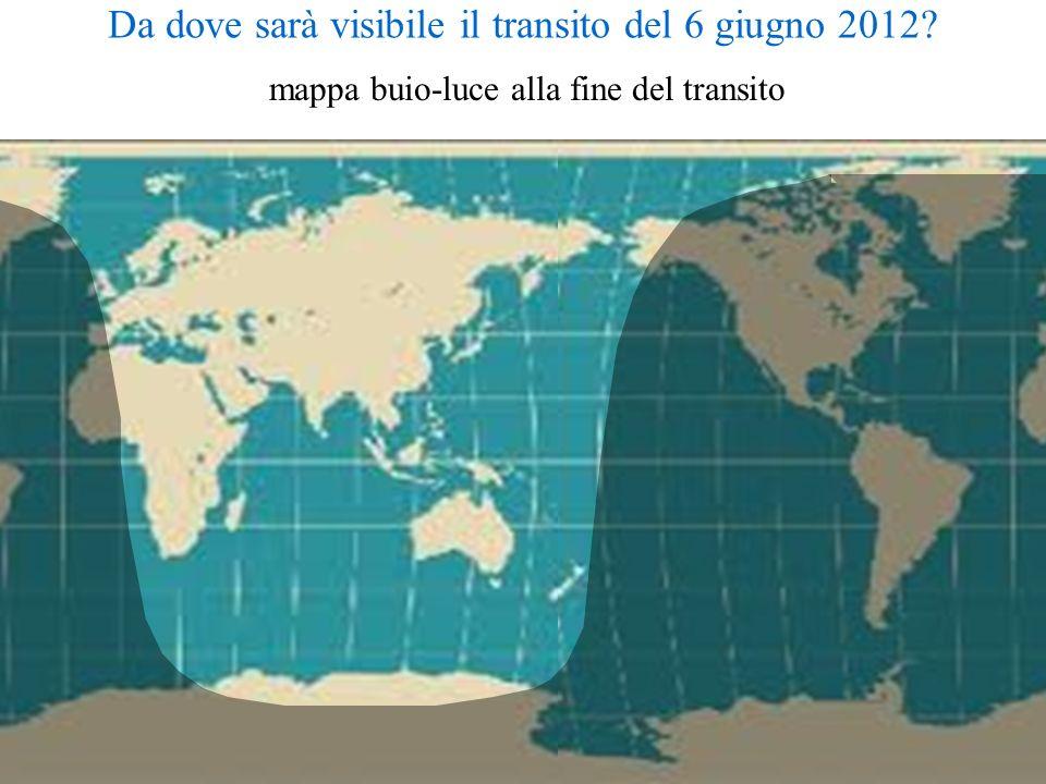 Da dove sarà visibile il transito del 6 giugno 2012