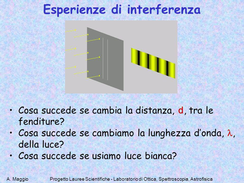 Esperienze di interferenza