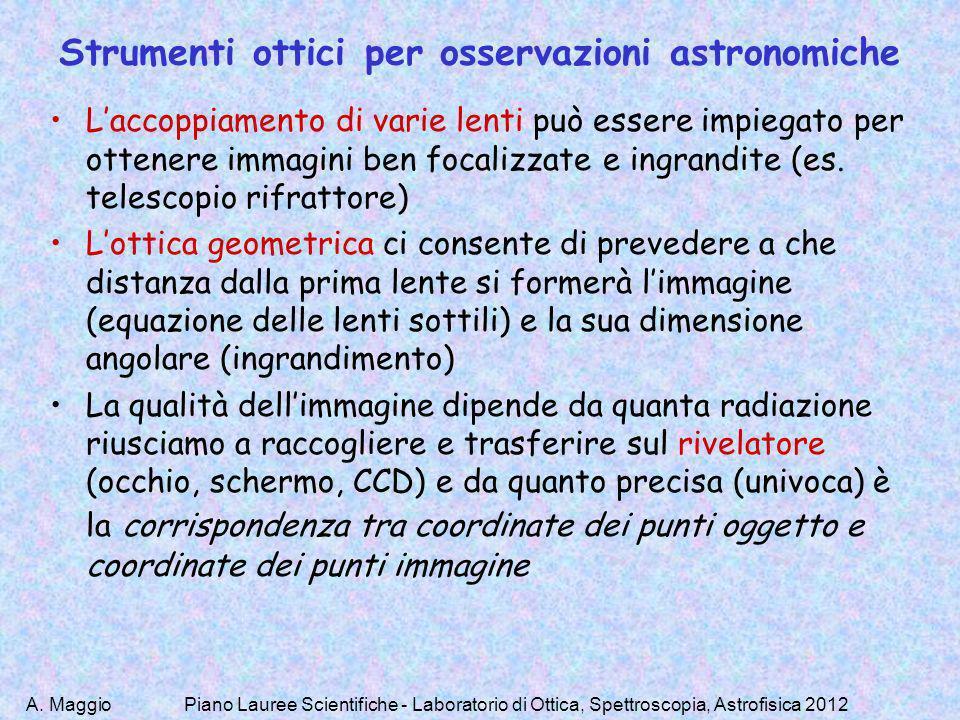 Strumenti ottici per osservazioni astronomiche