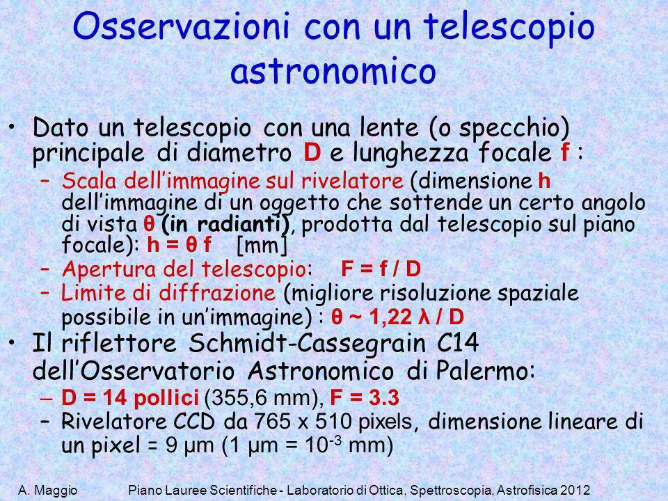 Osservazioni con un telescopio astronomico