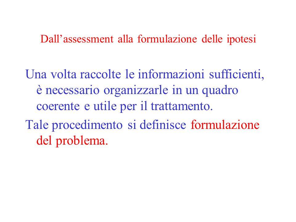 Dall'assessment alla formulazione delle ipotesi