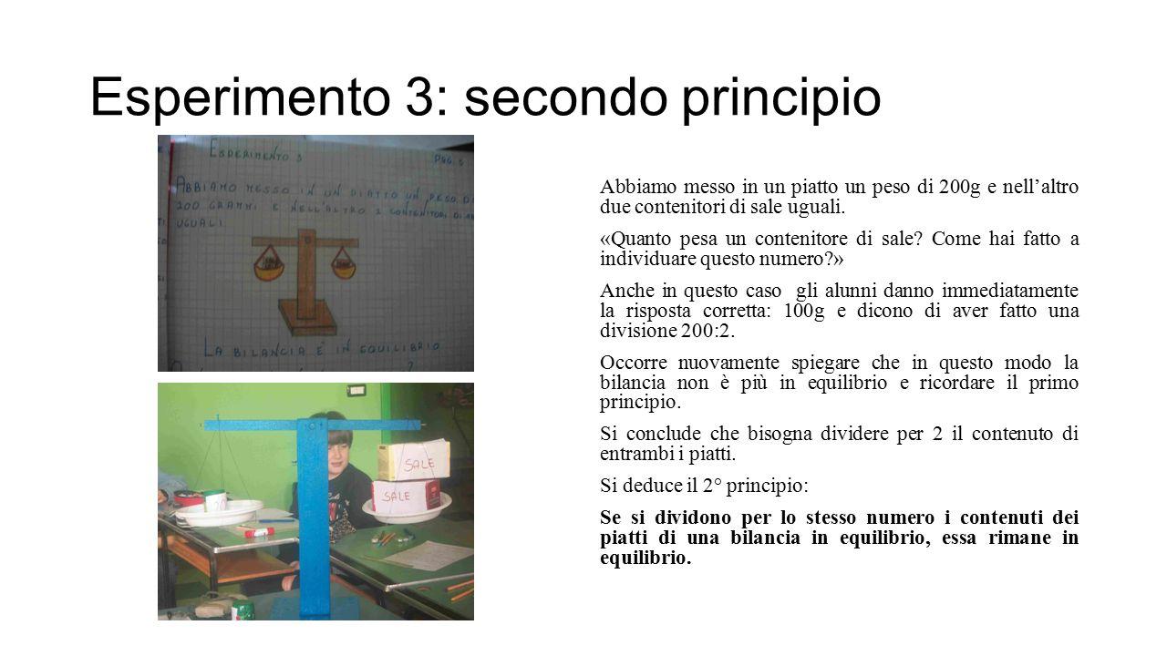Esperimento 3: secondo principio