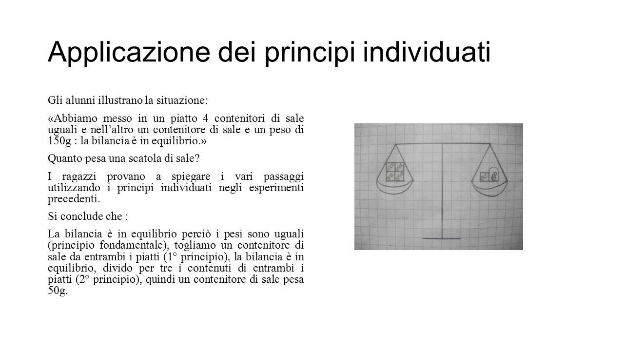 Applicazione dei principi individuati
