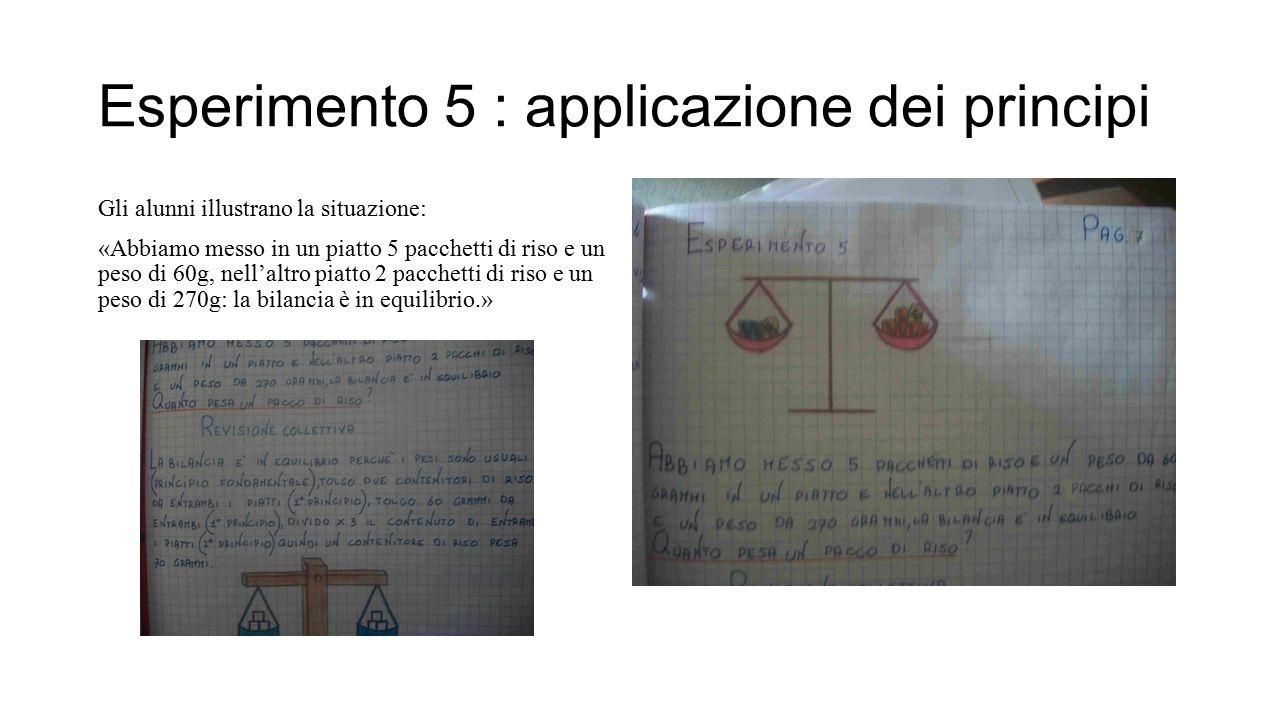 Esperimento 5 : applicazione dei principi