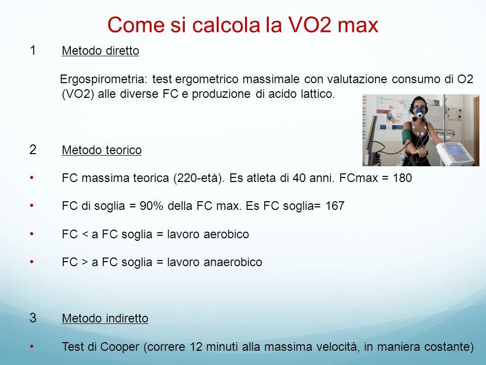 Come si calcola la VO2 max