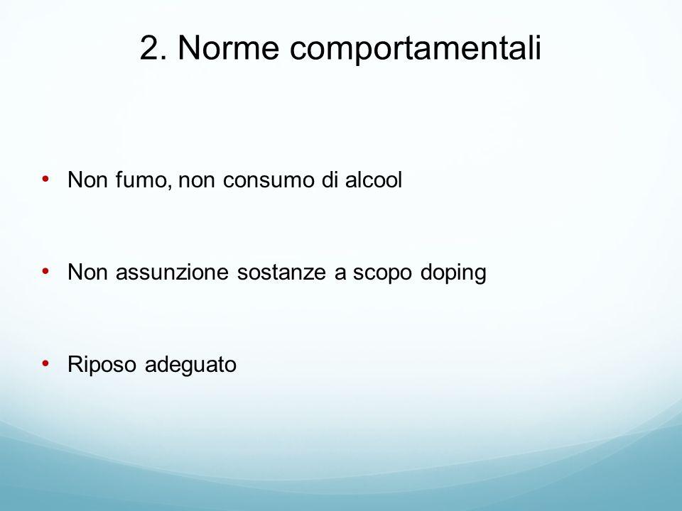 2. Norme comportamentali